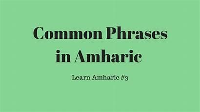 Common Phrases Amharic Learn