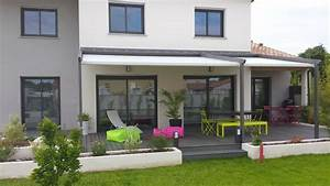 amenagement terrasse moderne baie vitree pinterest With superior amenagement de terrasse exterieur 7 deco salon moderne