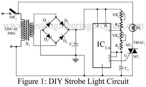 strobe circuit light diy lamp triac engineering projects using timer