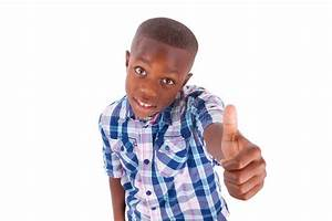 African American Boy Making Thumbs Up