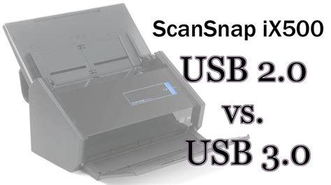 ScanSnap iX500 USB 2.0 vs USB 3.0 scan speeds - YouTube