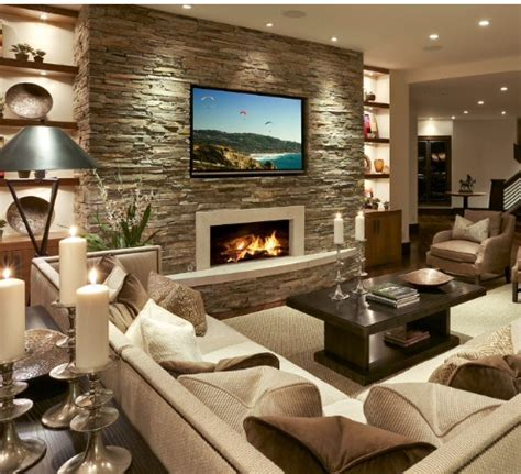 Wohnzimmer Design Wand Stein by 17 Amazing Living Room Interiors With Walls