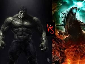 Godzilla VS The Incredible Hulk by DeRpYhOoVvEs on DeviantArt