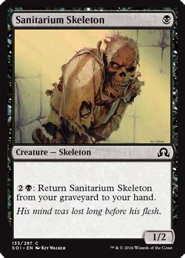 Mtg Skeleton Edh Deck by Sanitarium Skeleton From Shadows Innistrad Spoiler