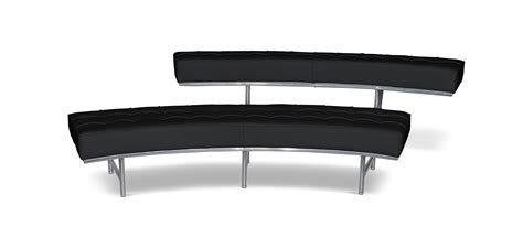 banc canape banc canapé monte carlo 2 style eileen gray simili