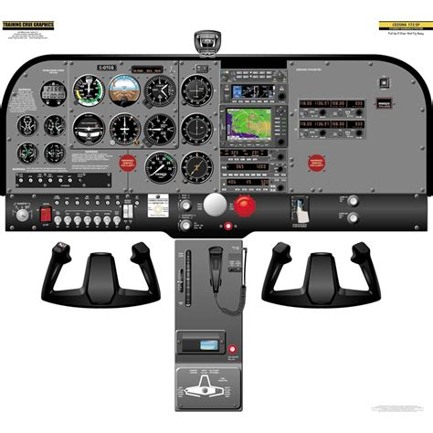 Cessna 172sp Handheld Cockpit Poster By 'training Crue