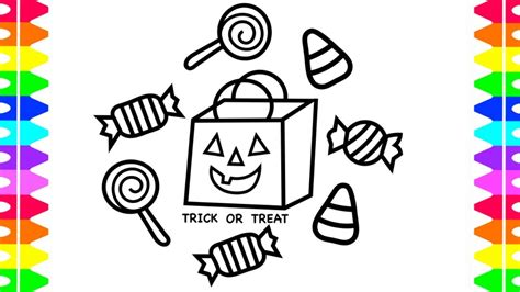 Happy Halloween Coloring! How To Draw Candy| Trick Or