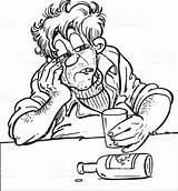 Drunk Pages Coloring Getcolorings Person Drawing sketch template