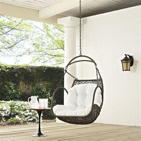 arbor white outdoor patio swing chair without stand eei