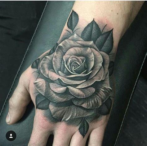 rose hand tattoo pinteres