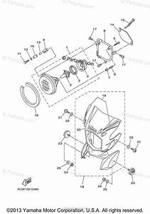 Yamaha Motorcycle 2009 Oem Parts Diagram For Headlight