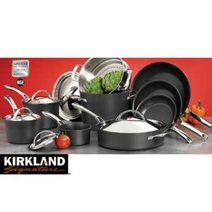 amazoncom kirkland signature  pc hard anodized cookware set kitchen dining