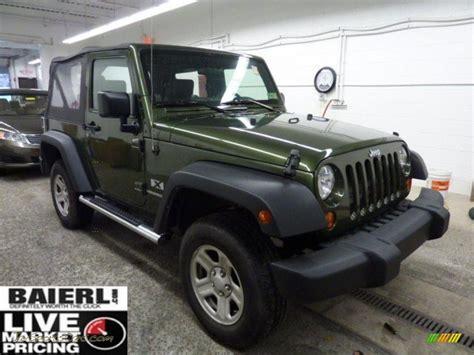 dark green jeep 2008 jeep wrangler x 4x4 in jeep green metallic 646121