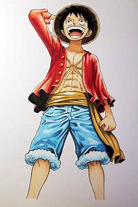 namasquepainting: Monkey D. Luffy (Copic Markers)