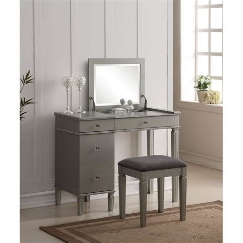 bedroom vanity set  silver silu