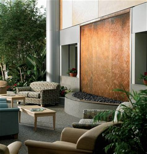 interior design copper waterfalls fountains residential