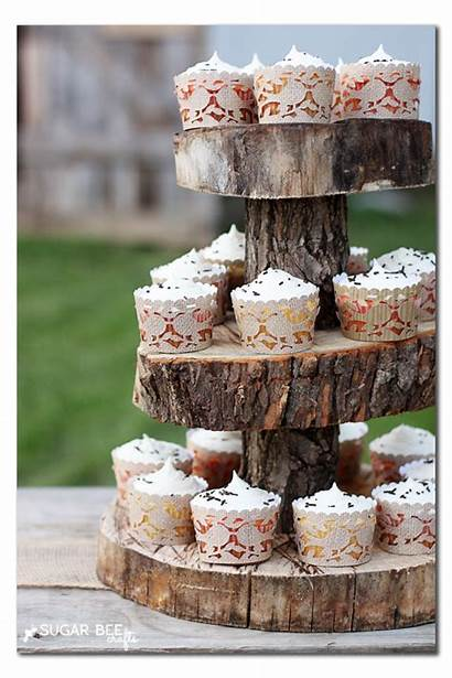 Cupcake Rustic Liners Woodland Wrappers Stand Cupcakes