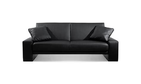 Supra Sofa Bed Settee Faux Leather Black, Leather Sofas