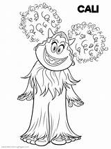 Coloring Smallfoot Pages Printable Yeti Cute Cali Drawing Yet Smiling Hand Adults Fun sketch template