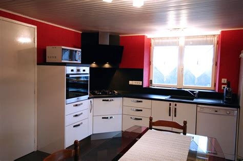 meuble cuisine four plaque cuisine intégrée deluxe blanc