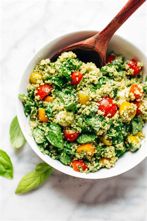 green goddess quinoa summer salad recipe pinch  yum