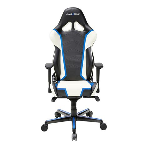 dxracer racing series oh rh110 nwb blue and white gaming