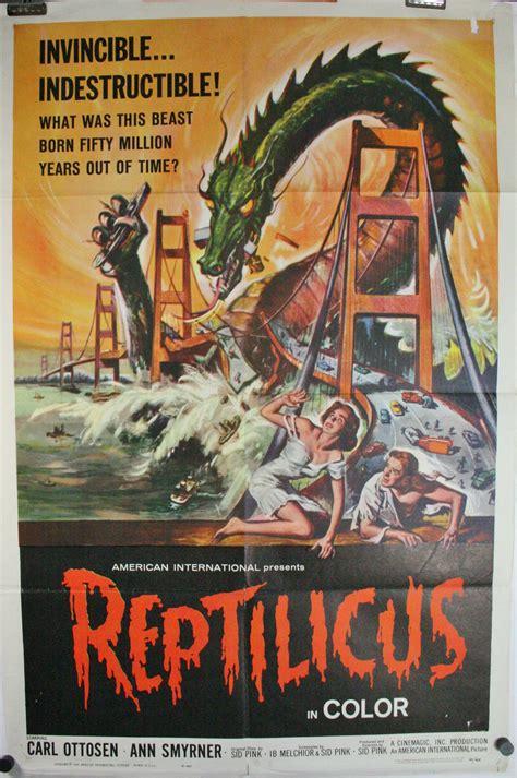 reptilicus original authentic  sci fi monster  theater poster  sale