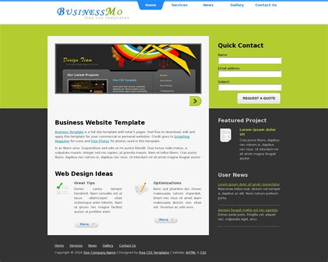 business website templates free business web template 187 all free web themes templates