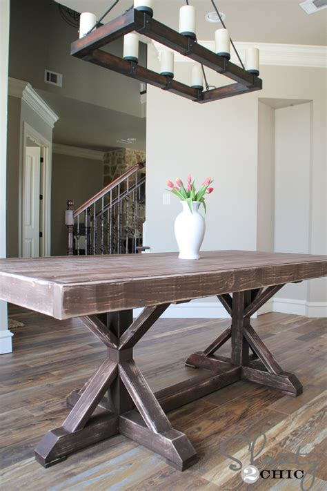 shanty 2 chic farmhouse table restoration hardware inspired dining table for 110