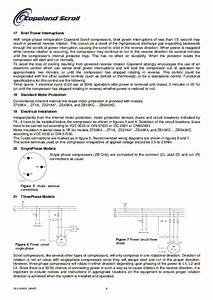 Emerson Copeland Refrigeration Scroll Zf09 K4 Zf18 K4