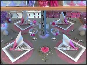 Table De Fte Rose Et Gris Pour Mariage Ou Anniversaire