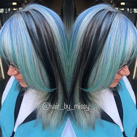 blue hair color ideas pastel blue balayage ombre
