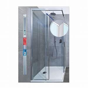 Joint cote de porte de douche coulissante translucide 195 for Joint porte douche coulissante