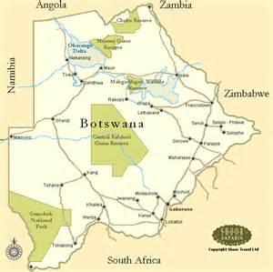 Map of Botswana - Botswana Map - Botswana