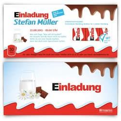 einladungskarten design einladungskarten zum geburtstag im schokoladen riegel design selbst gestalten und bestellen