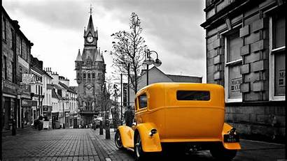 Yellow Street Cars Rod Coloring Selective Ford
