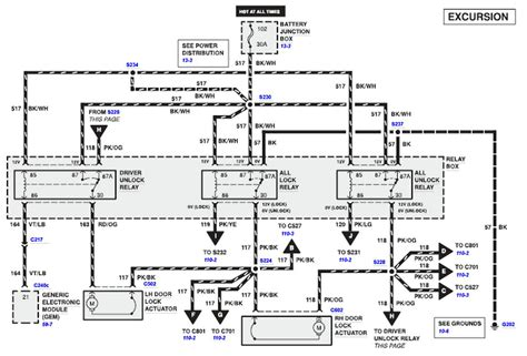 2001 Suburban Door Wiring Diagram by All Power Lock Unlocks Do Not Work On 2001 Excursion Xlt