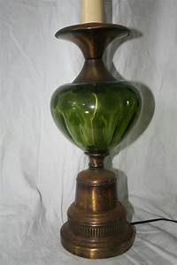 Table Lamps ~ Green Glass Lampshade For Sale Vintage Green