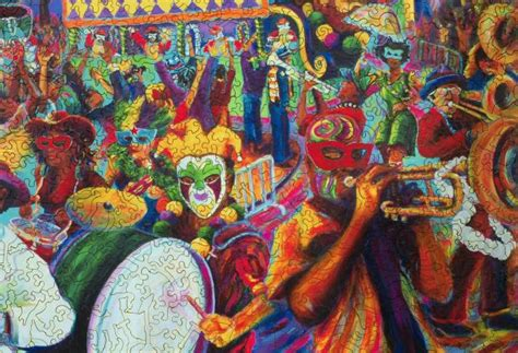mardi gras day wooden jigsaw puzzle liberty