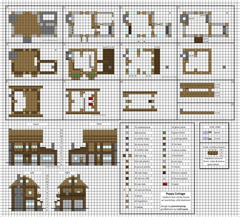minecraft small house floor plans poppy cottage medium minecraft house blueprints by