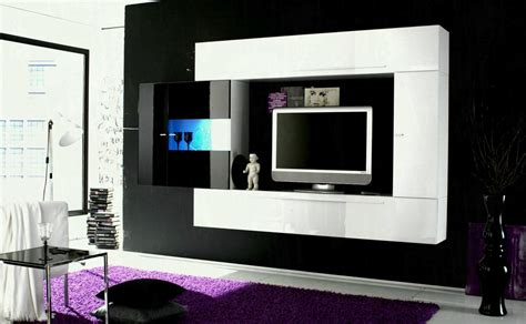 At Living Room Tv Wooden Wall Design Unit