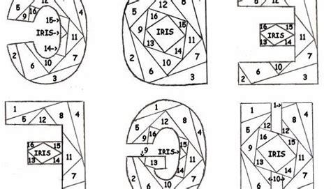 iris folding  circleofcrafterscom letter patterns