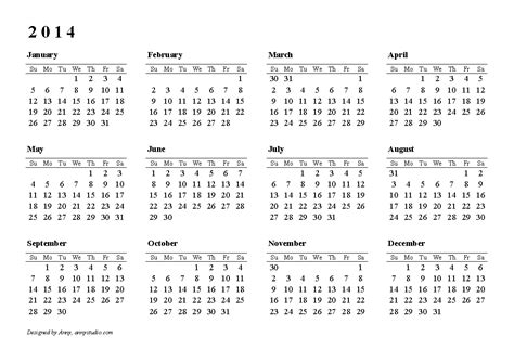Free Word Calendar Template 2014 Costumepartyrun