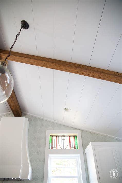 Shiplap Ceiling Pictures by How To Shiplap Your Ceilings The Handmade Home