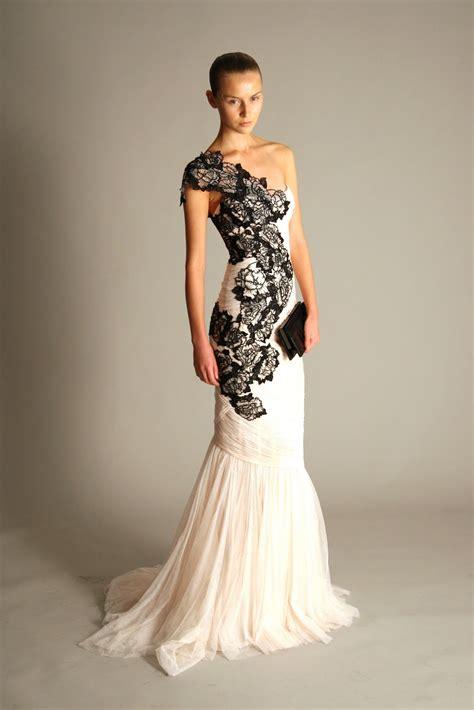 30 ideas of beautiful black and white wedding dresses