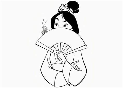 Mulan Coloring Page Disney