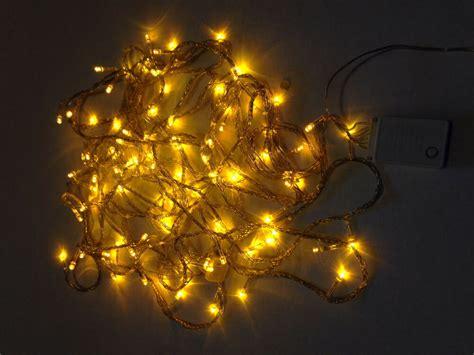 led christmas lights gold exterior ft roll  led