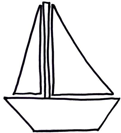 Boat Clipart Outline by Sail Boat Clip Art