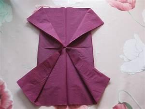 Pliage De Serviette En Tissu : pliage serviette modestes ouvrages ~ Nature-et-papiers.com Idées de Décoration