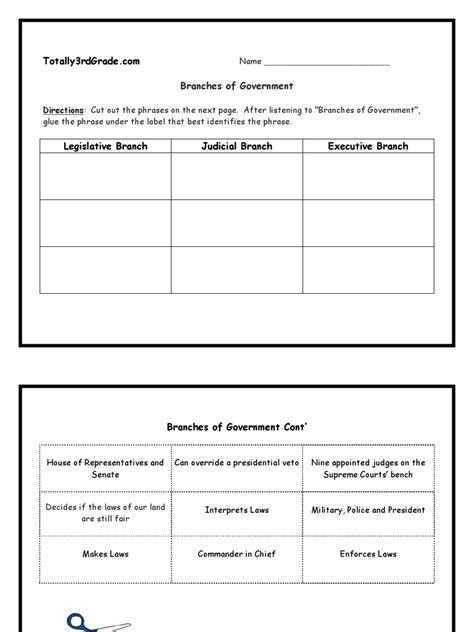 judicial branch worksheet worksheets tataiza free
